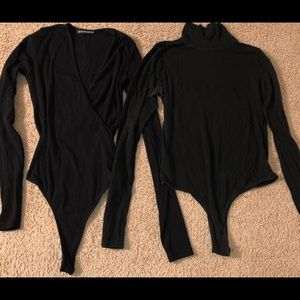 Brandy Melville 2PC Bundle Size 3 Black Bodysuit